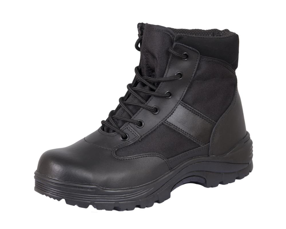 Ботинки кожа MIL-TEC Security Охрана стальной подносок Thinsulate ™ черные