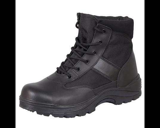 Ботинки кожа MIL-TEC Security Охрана стальной подносок Thinsulate ™ черные, фото 2