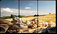 Модульная картина Interno Эко кожа Продукты из пшеницы 84х47см (A1409S)