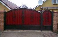 Ворота распашные  из профнастила + калитка