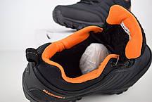 """Зимние кроссовки, ботинки на меху Merrell Vibram """"Черные / Оранжевые"""", фото 2"""