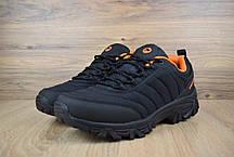 """Зимние кроссовки, ботинки на меху Merrell Vibram """"Черные / Оранжевые"""", фото 3"""