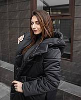 Пальто-одеяло женская зимняя -до 18*С / парка ЛЮКС качества черная