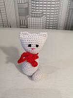 Мягкая вязанная игрушка для детей Котенок 7.5см
