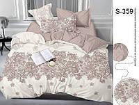 Комплект постельного белья с компаньоном на молнии сатин люкс S359