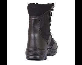 Берці (черевики з високими берцями) шкіра MIL-TEC Security Охорона сталевий підносок Thinsulate чорні, фото 3