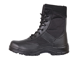 Берцы (ботинки с высокими берцами) кожа MIL-TEC Security Охрана стальной подносок Thinsulate черные, фото 3