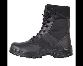 Берцы кожа MIL-TEC Security Охрана стальной носок черные, фото 3