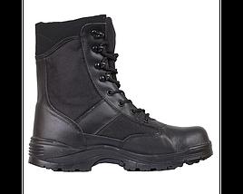 Берцы кожа MIL-TEC Security Охрана стальной носок черные, фото 2