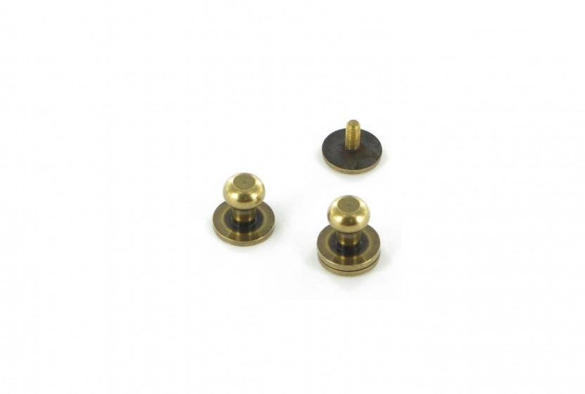 Кобурная кнопка латунная 8 мм