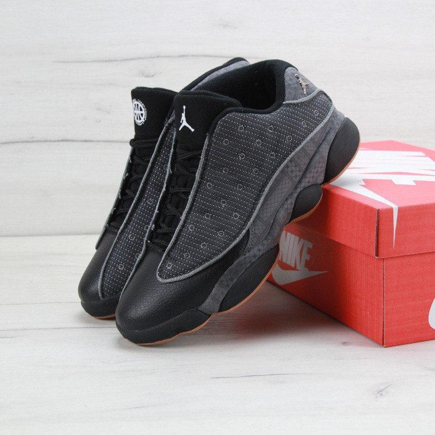 Кроссовки баскетбольные мужские Nike Air Jordan 13 для спорта серые, реплика