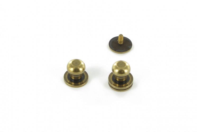 Кобурная кнопка латунная 10 мм