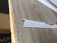 Уголок декоративный ПВХ белый 10x10x2750 мм, Белый