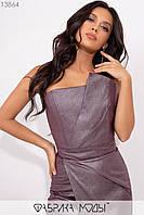 Элегантное платье футляр с втачным поясом и потайной молнией сзади 13864