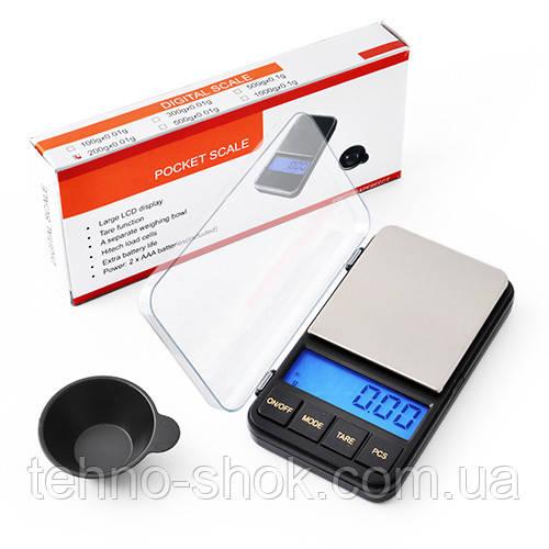 Весы ювелирные электронные 6285PA, 500г (0,01г)+чашка