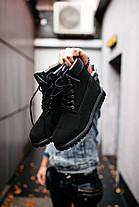 """Зимние ботинки на меху Timberland """"Черные"""", фото 3"""