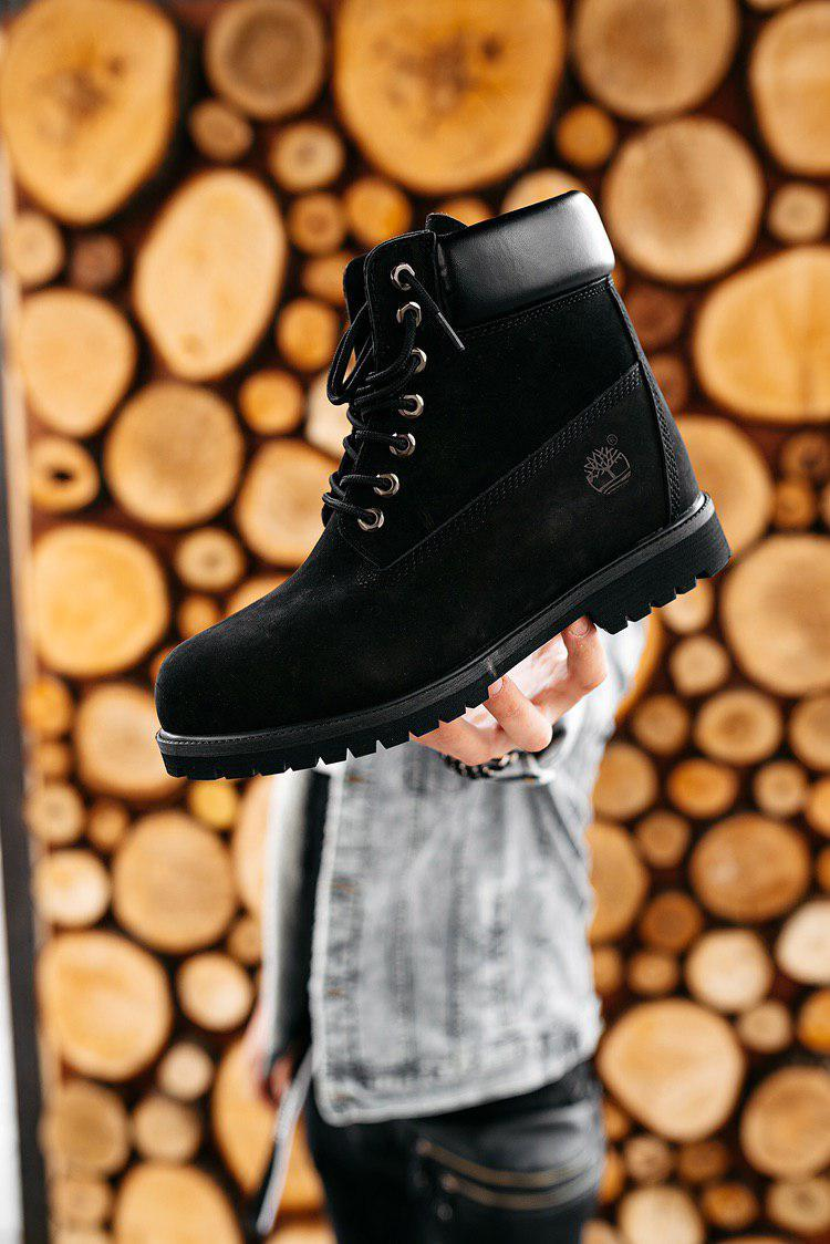 """Зимние ботинки на меху Timberland """"Черные"""""""