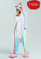 Пижама кигуруми кенгуру светло радужный единорог