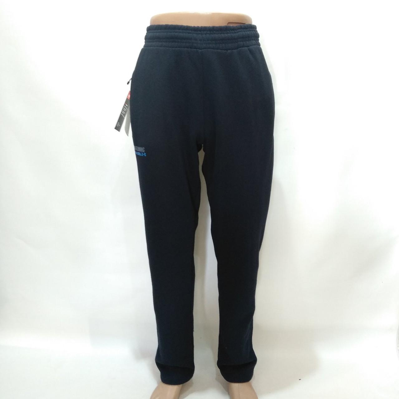 Спортивные штаны теплые Under Armour реплика / темно-синие / трикотажные