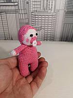 Мягкая вязанная игрушка для детей Пупсик 10см