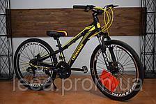"""Подростковый горный велосипед 24"""" Crossride Blast (Ardis) 21-скорость, рама: 11"""", 13"""" цвет в ассортименте"""