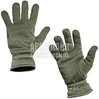 "Перчатки (рукавицы) зимние ""Трикотаж"" Olive, фото 1"