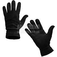 """Перчатки (рукавицы) зимние """"Флис"""" Black, фото 1"""