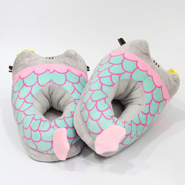 Плюшевые тапочки Hello Kitty