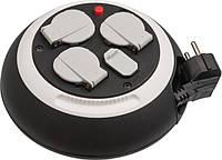 Удлинитель бытовой Comfort-Line CL-S с функцией зарядки USB черно / белый 3м H05VV-F3G1,5, фото 1