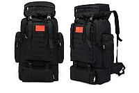 Тактический туристический городской рюкзак на 70л TacticBag Черный