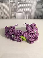 Обруч для волос Цветы связанные крючком