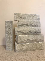 Плитка облицовочная фасадная/ Мраморная/Белая 250x65x 22 мм