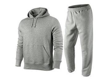 Спортивный костюм для печати, размер 3XL унисекс. Цвет серый меланж