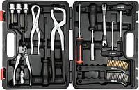 """Набор инструментов для обслуживания тормозной системы авто 1/2""""/ 3/8"""" (CrV) 15 шт YATO YT-06802 (Польша)"""