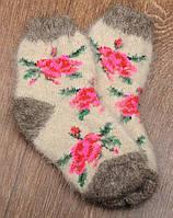 Шерстяные носки детские, носки из козьего пуха, теплые носки, зимние носочки, длина 16-20 см, фото 1