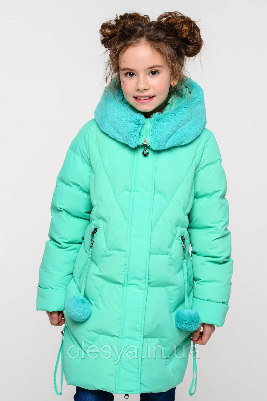 Зимнее пальто на девочку Шелли с мутоном Тм Nui Very  Размеры 116- 158