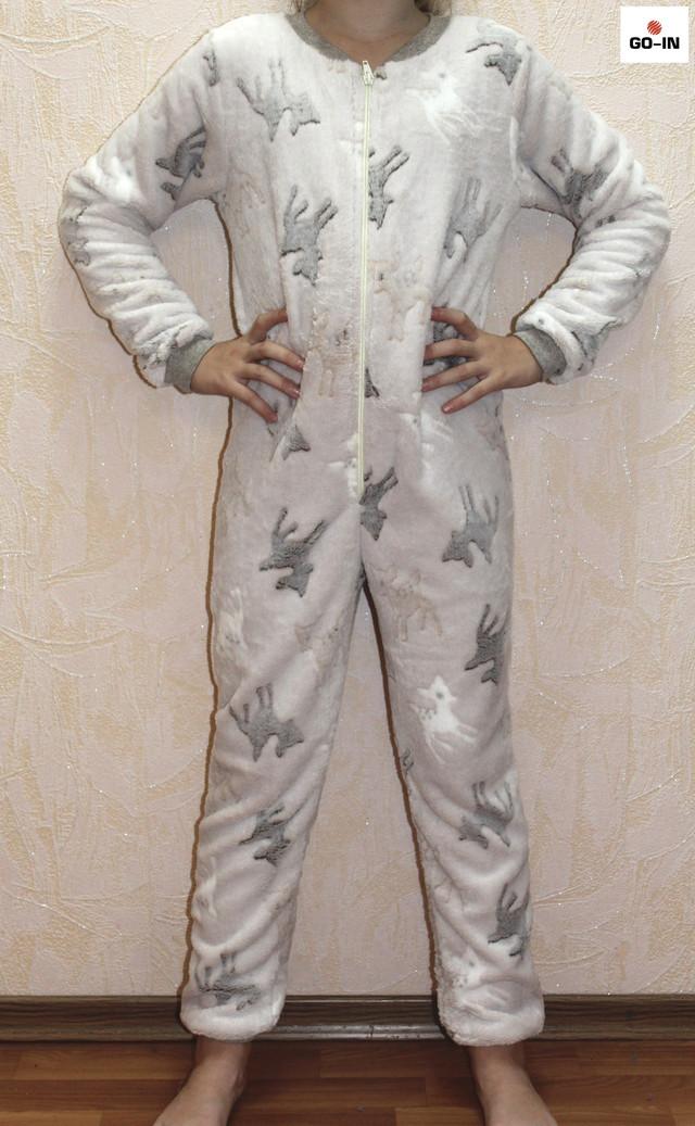 Пижама махровая детская тепла для мальчика Бемби