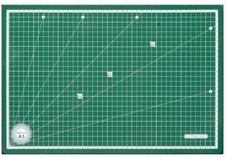 Килимок для крою, стяжка, 3 шари, (45 х 30 х 0, 30) см, A3, ПВХ