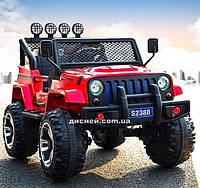 Детский электромобиль M 3237 EBLR-3 кожаное сиденье, красный