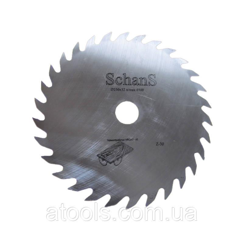 Пильный диск без напаек для продольного реза 250x32x30z 2 мм
