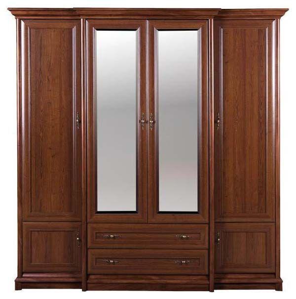 Шкаф для вещей с зеркалами Соната 4d/2s каштан