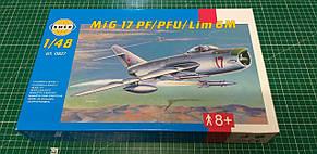 МиГ-17 ПФ/ПФУ/Лим 6М. Сборная модель военного самолета. 1/48 SMER 0827