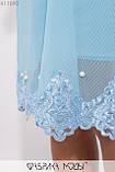 Платье прямого кроя на подкладе с длинными рукавами, декорировано жемчугом и кружевом X11890, фото 3