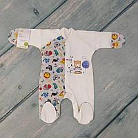 Комбинезон человечек для новорожденного малого веса (интерлок), р.50