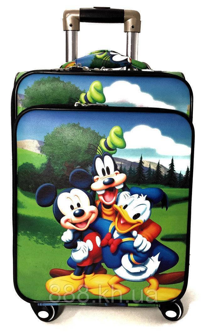 """Детский  чемодан на колесах экокожа""""Микки Маус"""" ручная кладь, дитячі чемодани, дитячі валізи"""