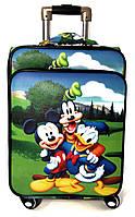 """Детский  чемодан на колесах экокожа""""Микки Маус"""" ручная кладь, дитячі чемодани, дитячі валізи, фото 1"""
