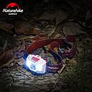 Налобный фонарик NatureHike водонепроницаемый фонарь со встроенным аккумулятором 1200 mAh USB серый, фото 8