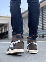 """Мужские кроссовки в стиле Nike Air Jordan 1 High """"Travis Scott"""", фото 3"""