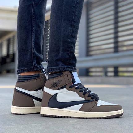 """Мужские кроссовки в стиле Nike Air Jordan 1 High """"Travis Scott"""", фото 2"""