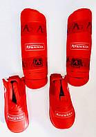 Защита для ног ARW (голень+футы) разбирающаяся WKF  размер L,  XL, фото 1